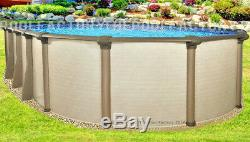 10x16 Oval 54 High Melenia Above Ground Swimming Pool with 25 Gauge Liner