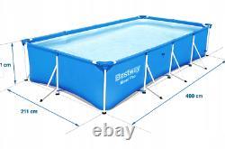 11in1 BestWay SWIMMING POOL 400 x211 Rectangular Garden Above Ground Pool + PUMP