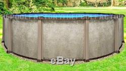 12 Round 54 Saltwater LX Above Ground Salt Swimming Pool with 25 Gauge Liner