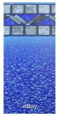 12' x 24' Rectangular Blue Stone Pool Liner Wilkes Bead 48H, 20 Gauge