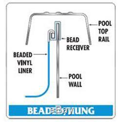12'x21'x54 Ft Oval Portofino Beaded Above Ground Swimming Pool Liner-25 Gauge