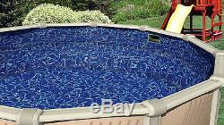 12'x24' Oval Overlap Sunlight Above Ground Swimming Pool Liner-25 Gauge