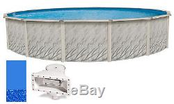 12'x52 Ft Round MEADOWS Above Ground Swimming Pool with Swirl Bottom Liner Kit