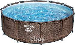 12in1 SWIMMING POOL BESTWAY 366cm 12ft Above Ground Round Garden Pool + PUMP SET
