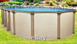 12x24 Oval 54 High Melenia Above Ground Swimming Pool with 25 Gauge Liner