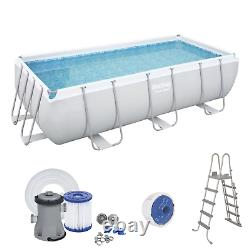 13in1 SWIMMING POOL BESTWAY 412cm x 201cm x 122cm Above Ground Rectangle + PUMP