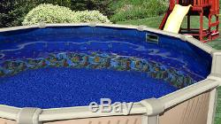 15' FT Round Overlap Caribbean Above Ground Swimming Pool Liner-25 Gauge