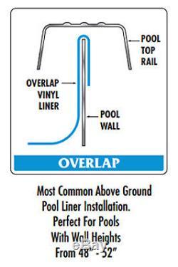15' Round Overlap Boulder Swirl Above Ground Swimming Pool Liner-25 Gauge