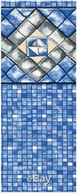 15' x 24' x 54 Unibead Diamond Cube Above Ground Swimming Pool Liner- 25 Gauge