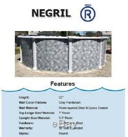 15' x 52 Round Above Ground Swimming Pool Steel Wall Negril Pool & Liner