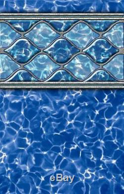 15' x 52 Round Beaded Diamond Wave Above Ground Swimming Pool Liner 25 Gauge