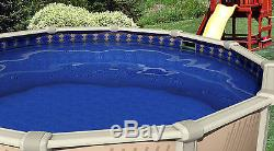 15'x24'x48 Ft Oval Unibead Mosaic Above Ground Swimming Pool Liner-25 Gauge