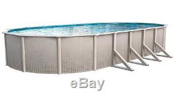 15'x30'x52 OVAL Impressions Aboveground Steel Wall Swimming Pool & 20 Mil Liner