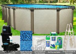 15'x30'x54 Melenia Oval Above Ground Swimming Pool Package
