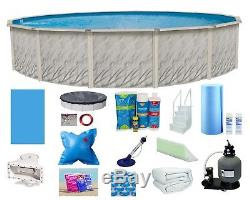 15'x52 Ft Above Ground Round Meadows Swimming Pool with Liner, Step, Filter Kit
