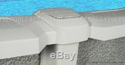 15'x54 Saltwater 8000 Round Above Ground Salt Swimming Pool with 25 Gauge Liner