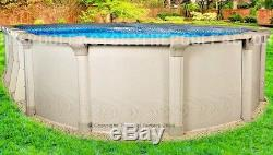 15x26 Oval 54 High Quest Above Ground Swimming Pool with 25 Gauge Liner