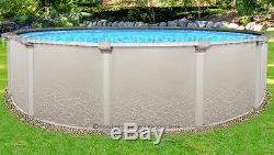 15x52 Round Saltwater 5000 Above Ground Salt Swimming Pool with 25 Gauge Liner