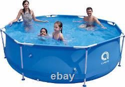 16in1 Best SWIMMING POOL 305cm 10FT Garden Round Frame Ground Pool + PUMP SET