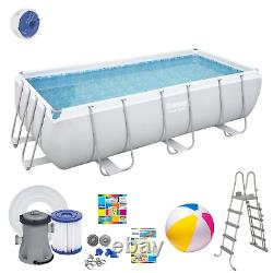16in1 SWIMMING POOL BESTWAY 412cm x 201cm x 122cm Above Ground Rectangle + PUMP