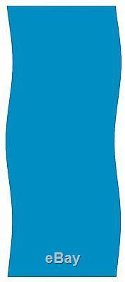 16x32 ft. Oval Overlap Above Ground Pool Liner Solid Blue 20 Gauge