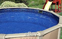 18' FT Round Overlap Cracked Glass Above Ground Swimming Pool Liner-20 Gauge