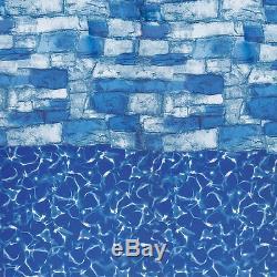 18' ROUND BLUE STONE Overlap Aboveground Swimming Pool Liner 20 Mil LI1848BSTO