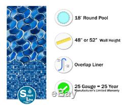 18' Round Overlap Poseidon Above Ground Swimming Pool Liner 25 Gauge