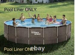 18 ft x 48 inch Summer Waves Above Ground Elite Frame Pool Liner Only Wicker