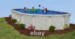 18' x 34' x 52 Oval Above Ground Pool Package 20 Year Warranty Sterling Bay