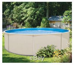 18' x 48 ROUND Montego Bay Aboveground Steel Wall Pool & 20 Gauge Overlap Liner