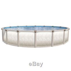 18' x 54 ROUND Tuscany Aboveground Swimming Pool & 20 Mil Expandable Blue Liner