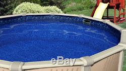 18'x24' Oval Overlap Boulder Swirl Above Ground Swimming Pool Liner-25 Gauge