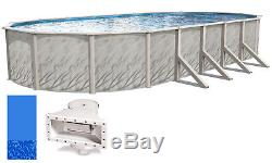 18'x33'x52 Ft Oval MEADOWS Above Ground Swimming Pool with Swirl Bottom Liner Kit