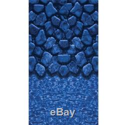 18'x33'x52 Oval Beaded BOULDER SWIRL Above Ground Swimming Pool Liner 20 Mil