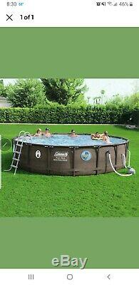 18'x48 Coleman swim vista II. POOL LINER ONLY. WICKER. IN HAND. BRAND NEW