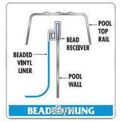 18'x48 Round Beaded Monterey White Above Ground Swimming Pool Liner-25 Gauge