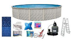 18'x52 Ft Round MEADOWS Above Ground Steel Wall Swimming Pool & Liner & Kit