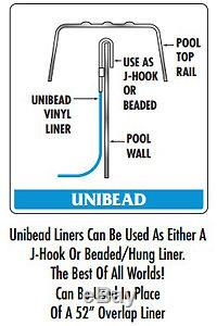 18'x52 Ft Round Unibead Boulder Swirl Above Ground Swimming Pool Liner-25 Gauge
