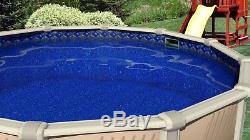18'x52 Ft Round Unibead Crystal Tile Above Ground Swimming Pool Liner-20 Gauge
