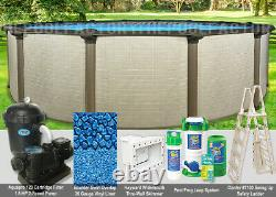 18'x54 Melenia Round Above Ground Swimming Pool Package