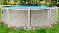 18'x54 Saltwater 8000 Round Above Ground Salt Swimming Pool with 25 Gauge Liner