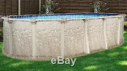 18x33 Oval 52 High Cameo Above Ground Swimming Pool with 25 Gauge Liner