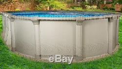 18x40 Oval 54 High Quest Above Ground Swimming Pool with 25 Gauge Liner