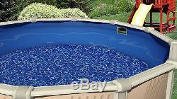 18x72 FT Round Overlap Swirl Expandable Above Ground Swimming Pool Liner-25 GA