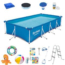 20in1 SWIMMING POOL BESTWAY 400cm x 211cm x 81cm Above Ground Square Pool +PATCH
