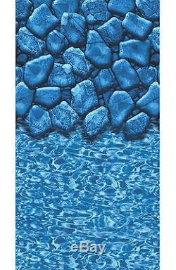21' FT Round Overlap Boulder Swirl Above Ground Swimming Pool Liner-30 Gauge
