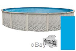 21'X52 Round Lake Effect Meadows Above Ground Swimming Pool With Liner & Skimmer