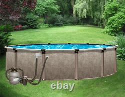 21' x 52 Above Ground Pool Package withFilter System 40 Yr Warranty Regency
