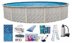 21'x52 Ft Round MEADOWS Above Ground Steel Wall Swimming Pool & Liner & Kit
